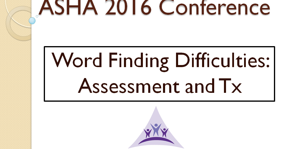 Communication Station: Speech Therapy PLLC: ASHA 2016: Word ...