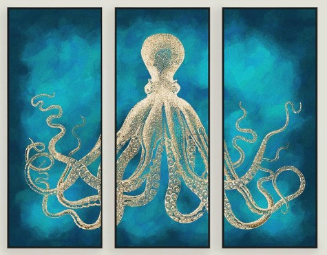Octopus Designs For Your Home Decor Coastal Decor Ideas