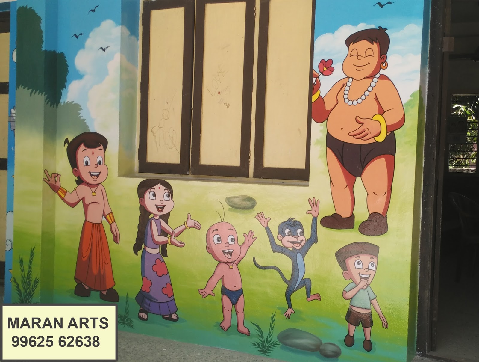 play school wall art painting services, in chennai ,pondicherry ...