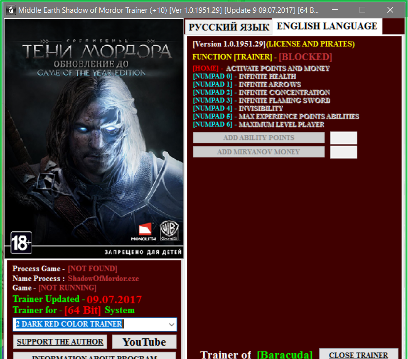 Middle Earth Shadow Of Mordor V1 0 1951 29 10 Trainer