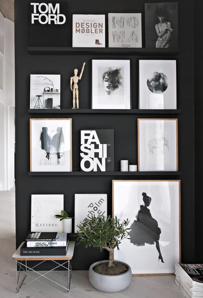 composición cuadros pared completa