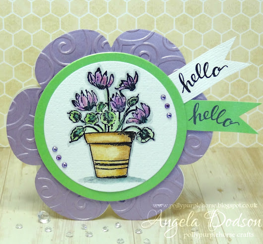 Hello Spring Watercolour Card - Papermilldirect DT
