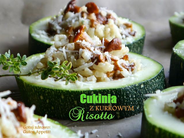 Cukinia z kurkowym risotto i miętowym dipem - Czytaj więcej »
