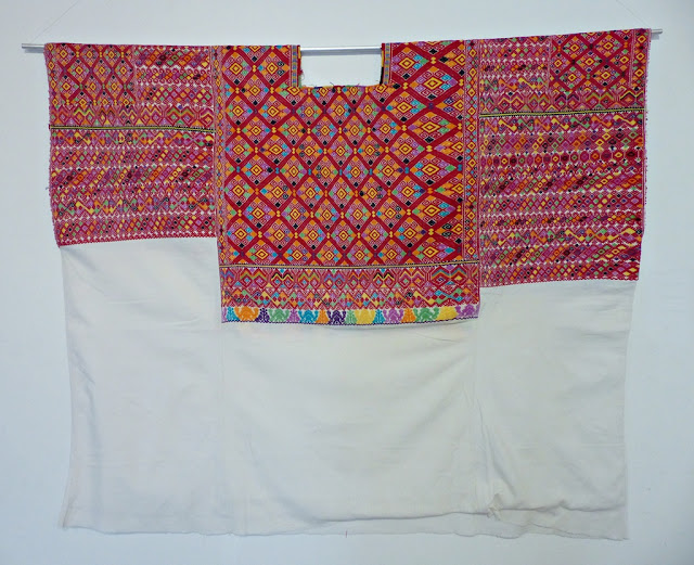 Beautifully embroidered huipil, Magdalenas region, Chiapas