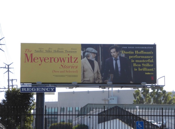 Meyerowitz Stories Netflix FYC billboard