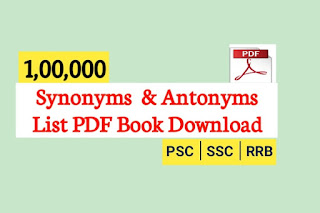 Synonyms list pdf