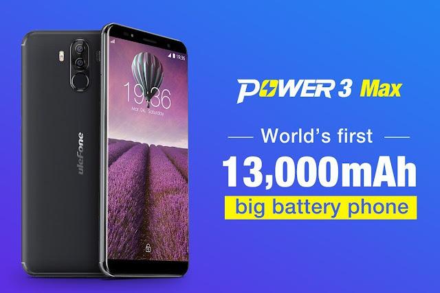 Ulefone Power 3 Max, Ponsel Dengan Kapasitas Baterai 13.000 mAh