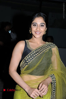 Actress Regina Stills in Green Saree at Vivaha Bhojanambu Restaurant Launch  0028.JPG