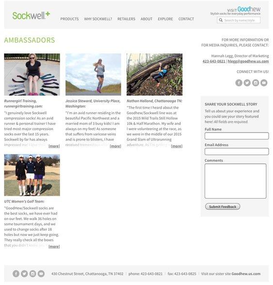 sockwell brand ambassador compression socks