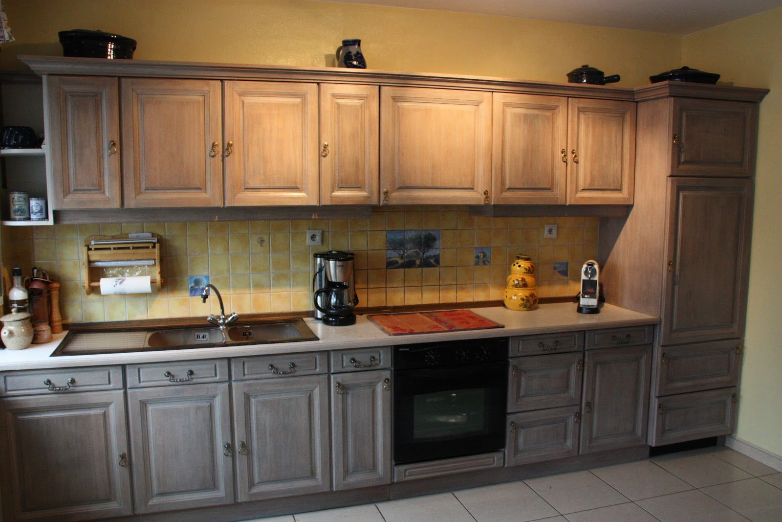 d coration cuisine en chene. Black Bedroom Furniture Sets. Home Design Ideas