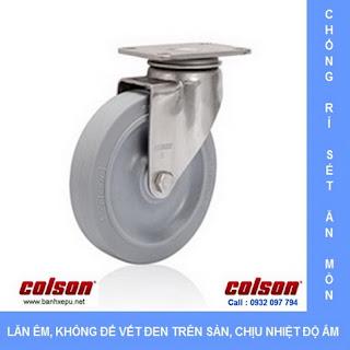Bánh xe cao su càng bánh xe inox 304 | 2-3356SS-444 | www.banhxepu.net