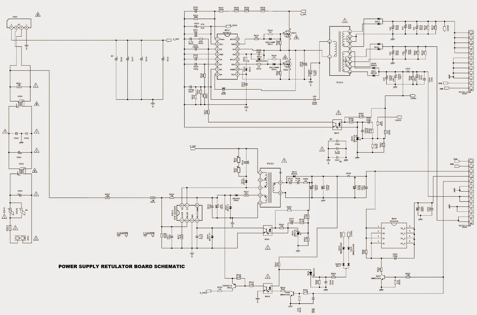 Sanyo Led 46xr123d How To Enter Factory Mode Adjustments Smps Schematic