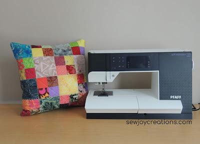 patchwork scrap cushion cover PFAFF quilt expression 720