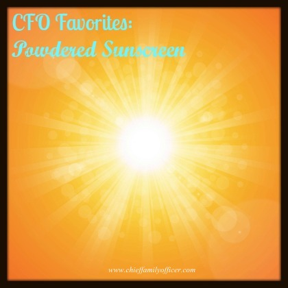 Powdered Sunscreen - www.chieffamilyofficer.com