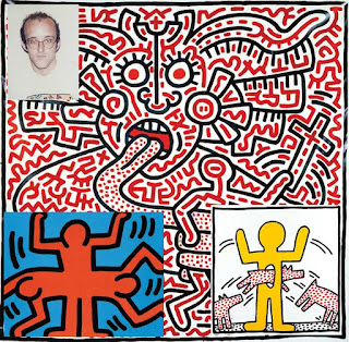 Keith Haring arts printable coloring pages for adult