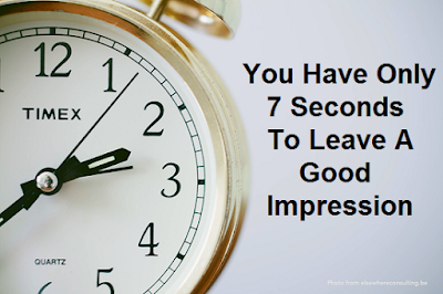 Can You create a good first good impression in 7 seconds