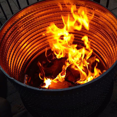 DIY Fire Pit on a Budget from a Washing Machine Drum