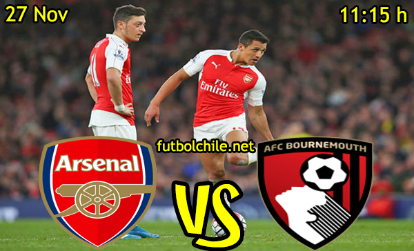 Ver stream hd youtube facebook movil android ios iphone table ipad windows mac linux resultado en vivo, online: Arsenal vs Bournemouth,