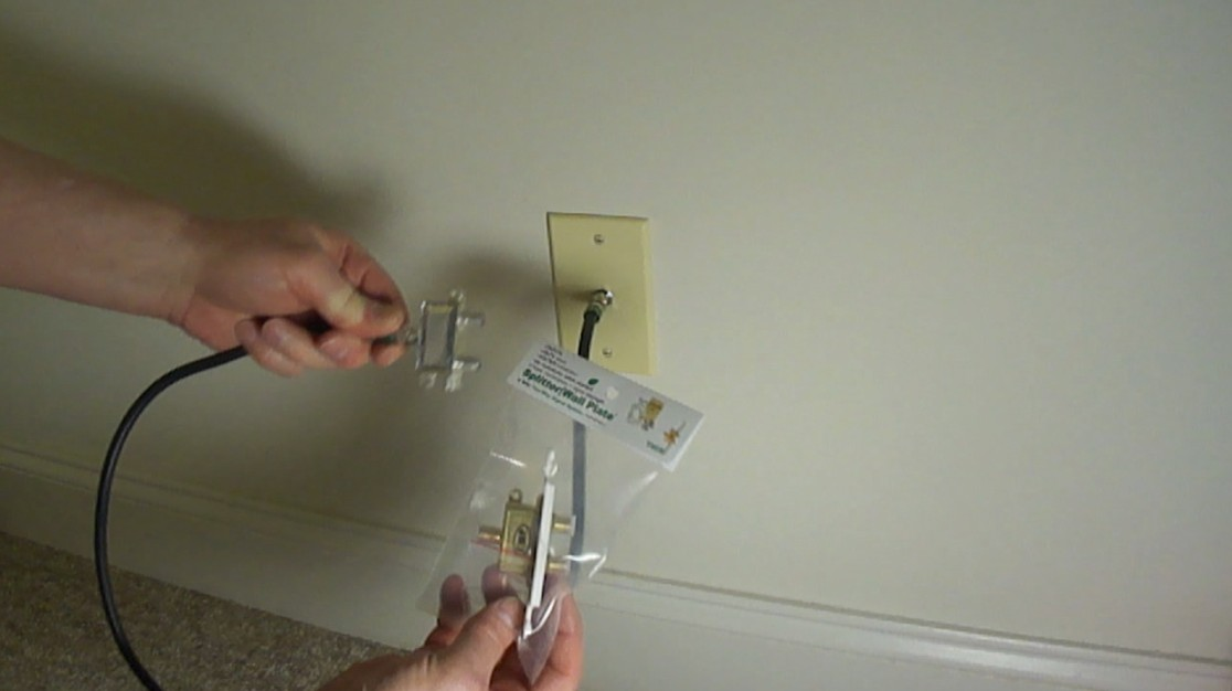 Splitter Wall Plate Install The New Cable Tv Internet
