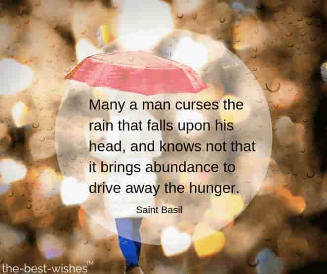 rainy season quotes with images by saint basil