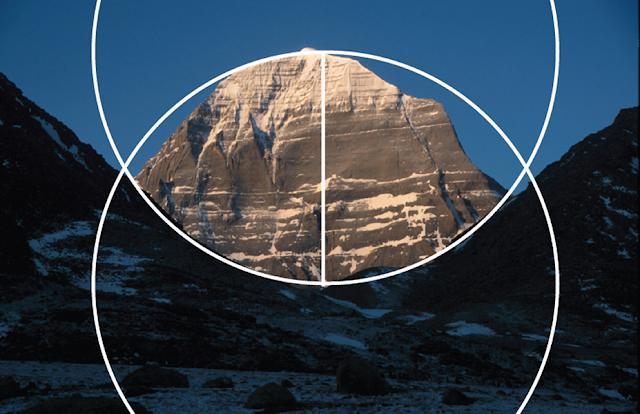 Mt. Kalasha (Wikimedia), Vesica Piscis added by Lori Tompkins