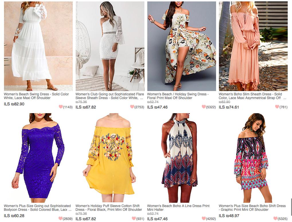 קנית בגדים באינטרנט מסין