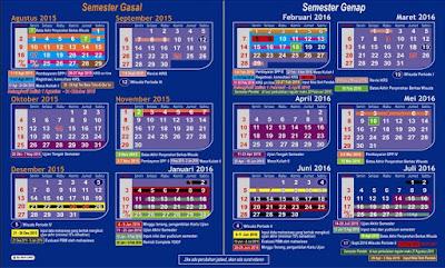Kalender Pendidikan 2016/2017 dilengkapi dengan Rincian Hari Efektif