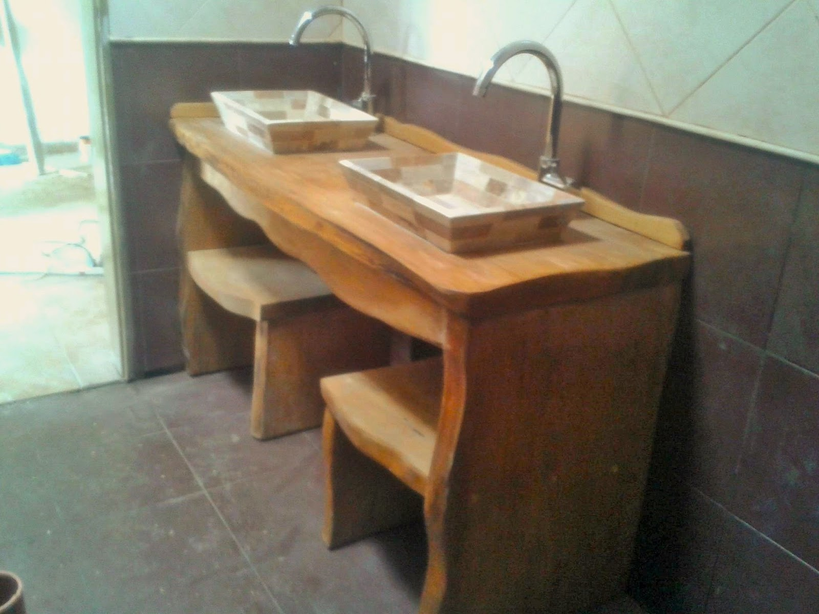Arte rustika muebles rusticos artesanales vanitorys for Muebles vanitorios rusticos