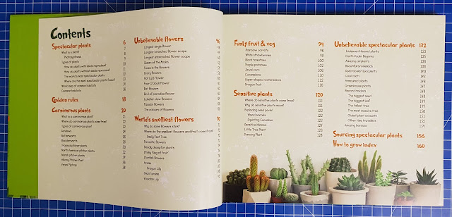 RHS Spectacular Plants & How To Grow Them review contents page