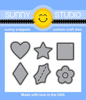Sunny Studio Stamps: Basic Mini Shape Dies with Heart, Star, Square, Diamond, Holly & Flower