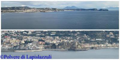 il panorama del porto di Pozzuoli visto dal Castello di Baia