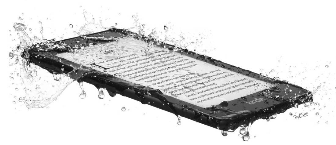 Kindle Paperwhite 4 spryskany wodą