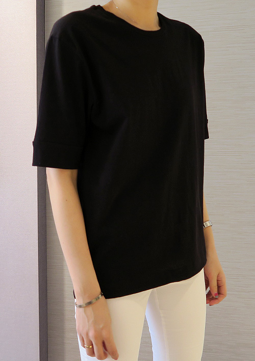 Roll Up Sleeve T-Shirt