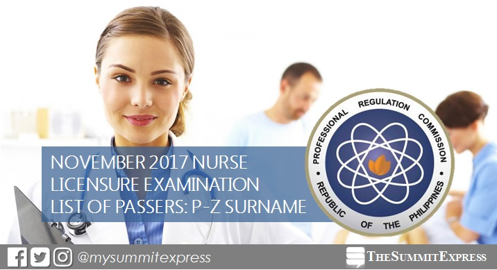 P-Z Passers: November 2017 NLE Results