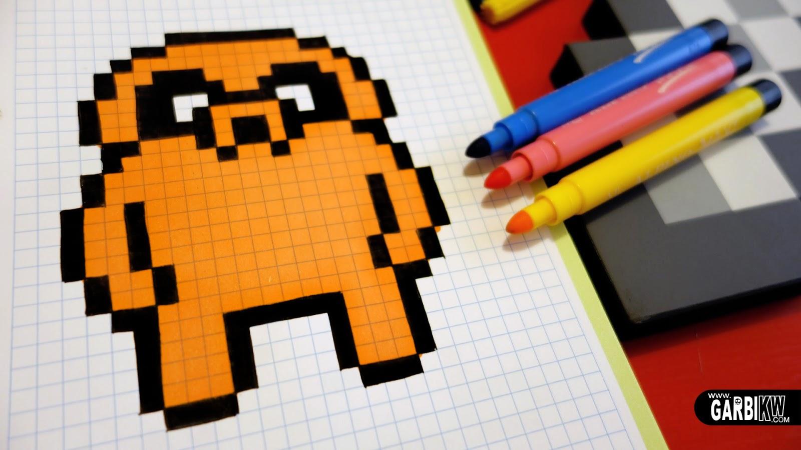 Handmade Pixel Art How To Draw Jake The Dog Pixelart