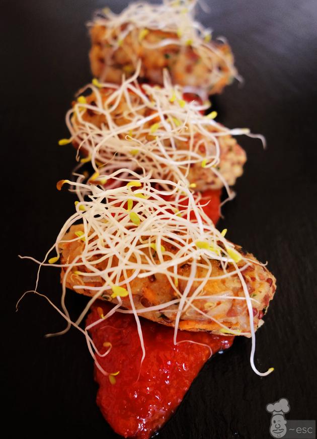Croquetas de quinoa con verduras