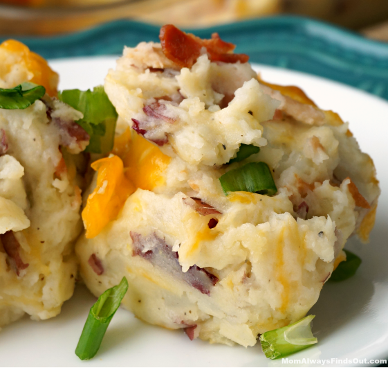 LOADED BAKED POTATO CASSEROLE RECIPE #potato #dinner