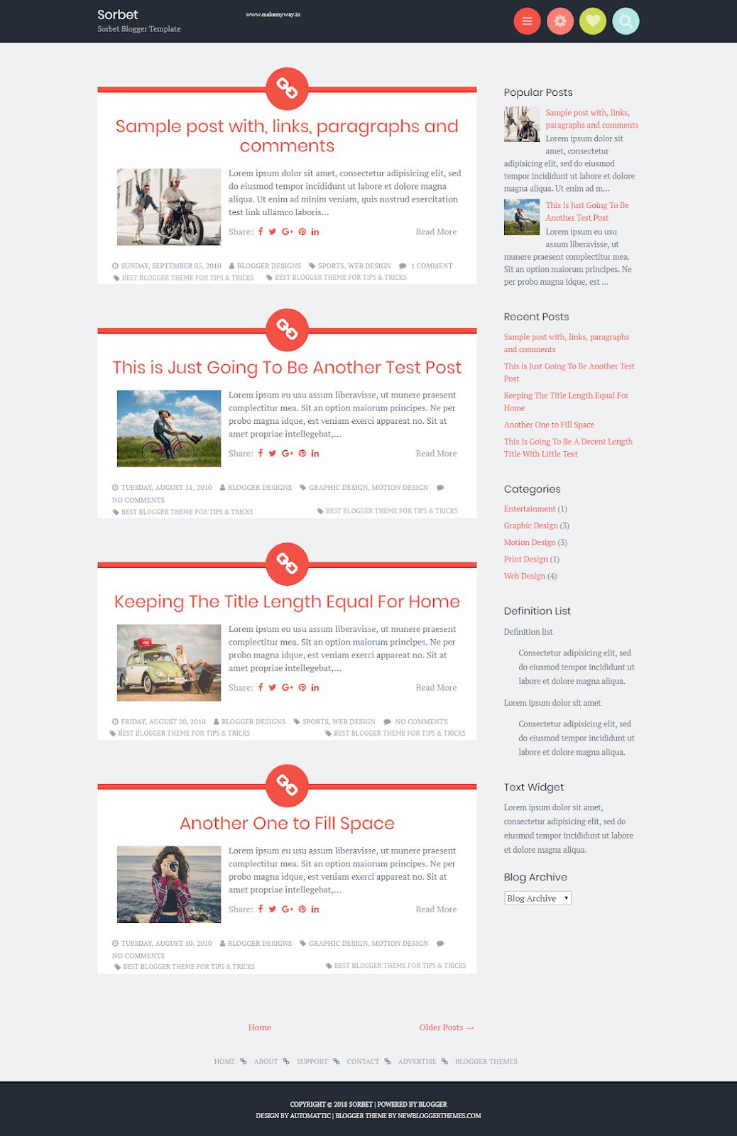 Sorbet Theme - Best Blogger Theme for Tips & Tricks