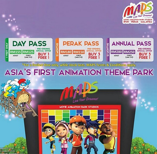 Harga Tiket Movie Animation Park Studios Perak
