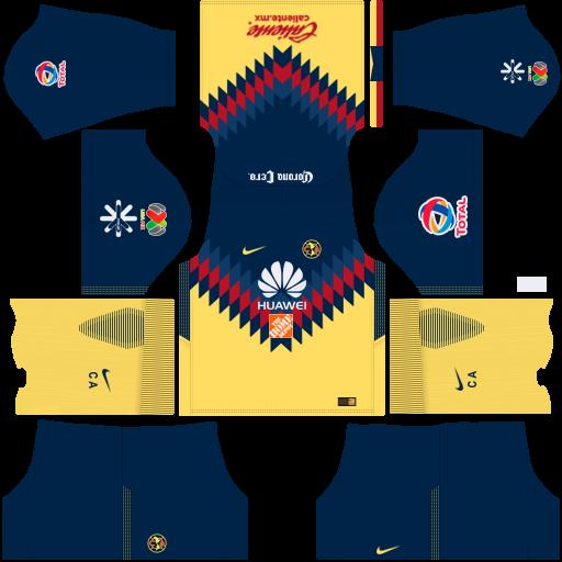 Kits del am rica 2018 para dream league soccer 17 by for Cuarto kit del america 2018