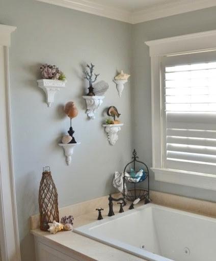 Wall Sconce Shelf Ideas for the Bathroom