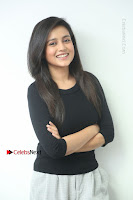 Telugu Actress Mishti Chakraborty Latest Pos in Black Top at Smile Pictures Production No 1 Movie Opening  0034.JPG