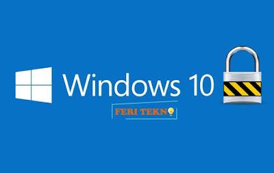 mengunci dekstop windows 10 dengan password - Feri Tekno