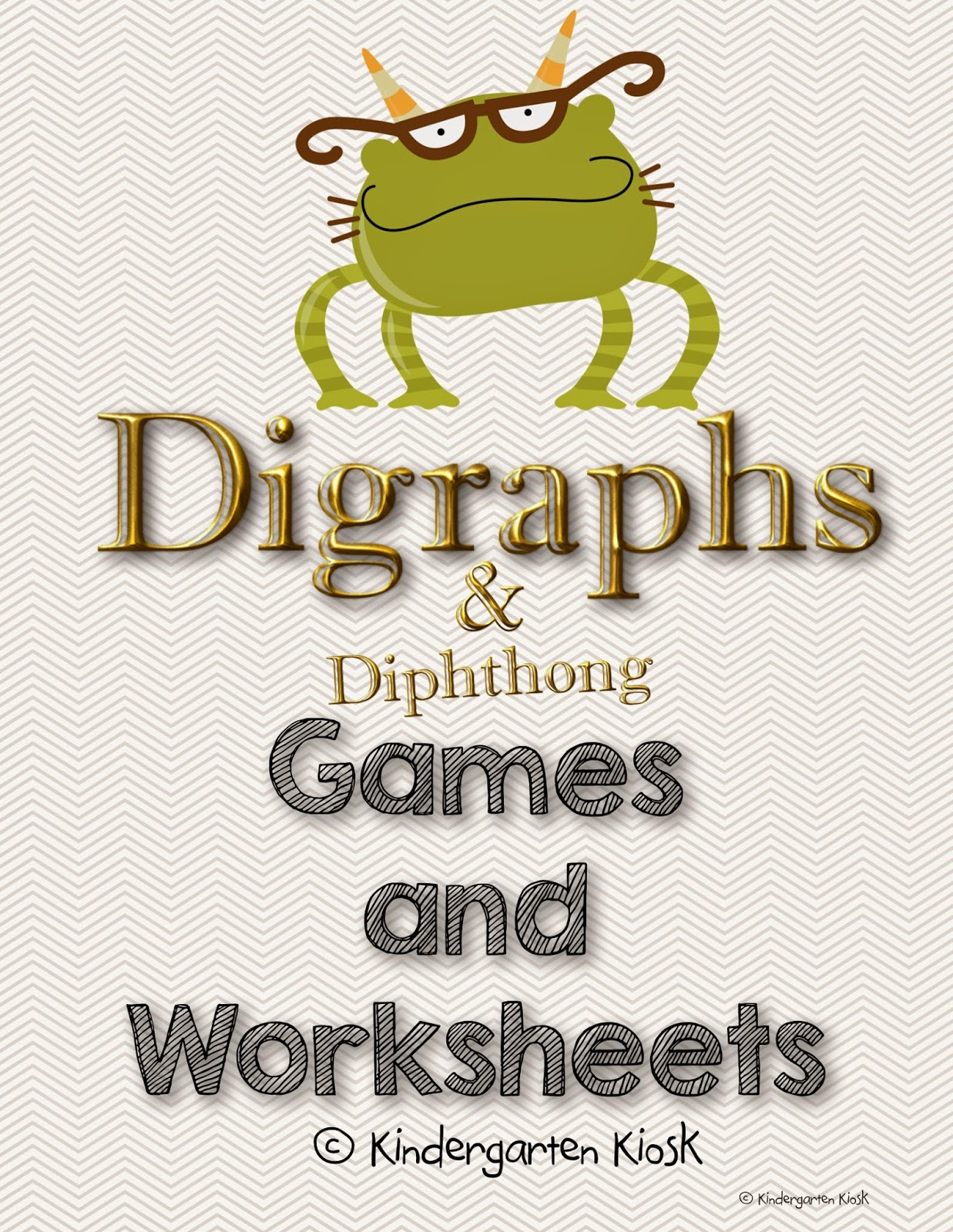 Kindergarten Kiosk Digraphs And Diphthongs