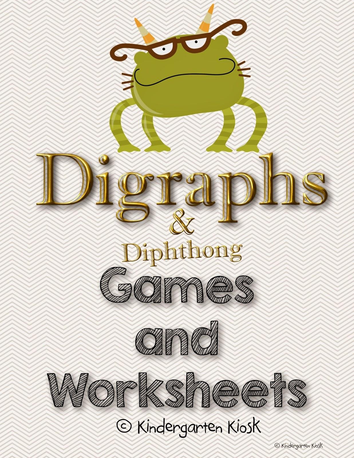 Kindergarten Kiosk Digraphs And Diphthongs