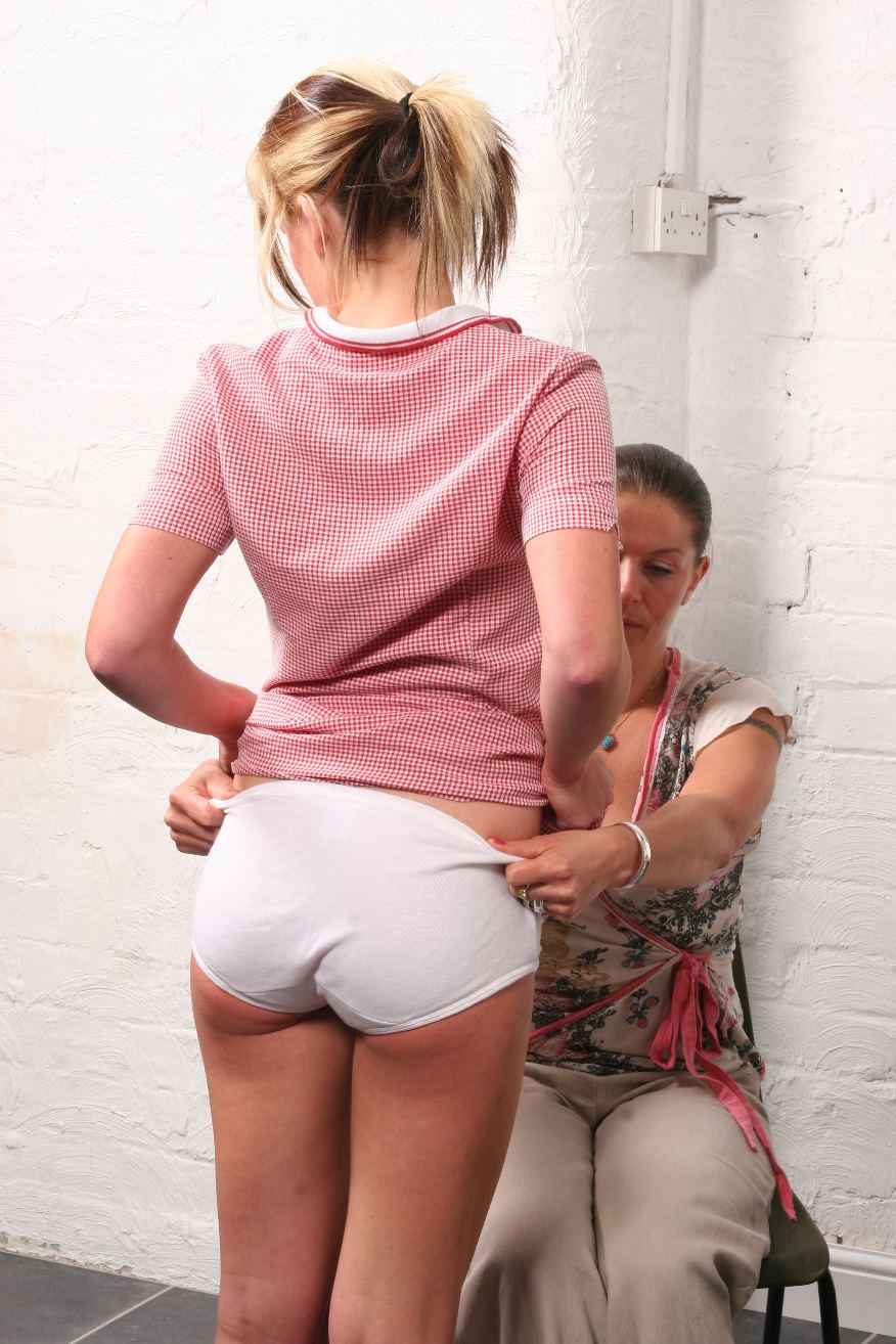 Pants down spank uncle girl
