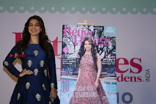 Bollywood Actress Juhi Chawla Launchs Better Homes 10th Anniversary Celetion Cover  0035.JPG