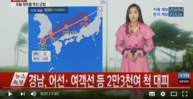 Topan Chaba Porak Porandakan Korea Selatan Hari Ini, Angin Hebat Hujan dan Gelombang Tinggi