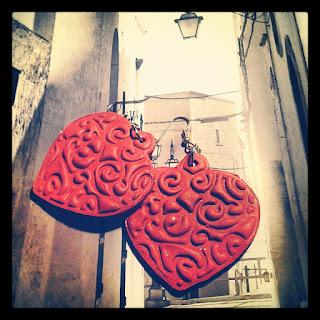 orecchini cuore fimo san valentino