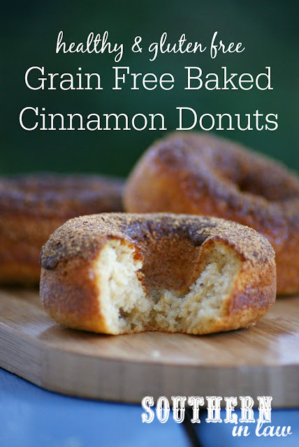 Paleo Baked Cinnamon Donuts Recipe | low fat, gluten free, grain free, paleo, refined sugar free, healthy, clean eating friendly, healthy donut recipes